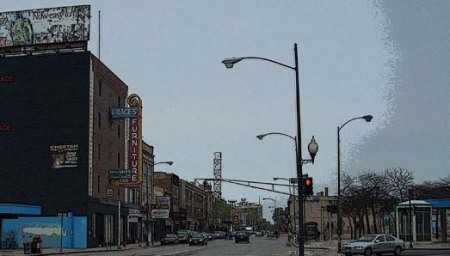 Milwaukee Ave. North of Logan Square